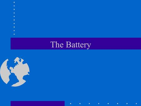 The Battery. Main Entry: storage battery Function: noun Date: 1881 : a cell or connected group of cells that converts chemical energy into electrical.