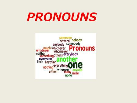 PRONOUNS. Pronouns take the place of nouns. antecedent Definition Pronouns take the place of nouns. The word or phrase replaced by a pronoun is called.