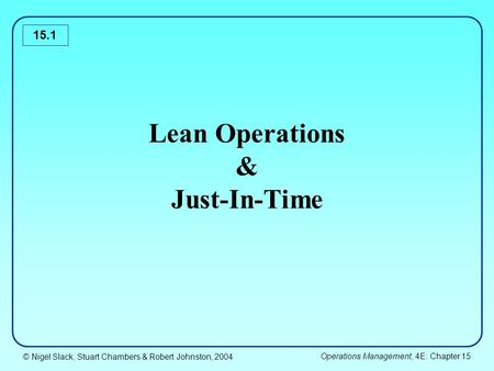 jit and lean operations pdf