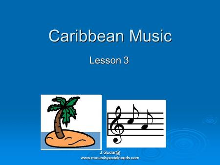 Caribbean Music Lesson 3