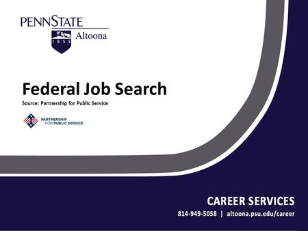 Federal Job Search Source: Partnership for Public Service.