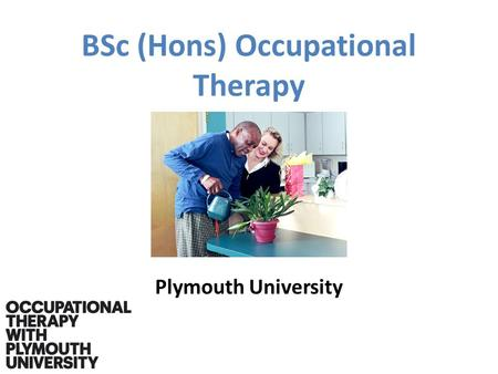 BSc (Hons) Occupational Therapy Plymouth University.