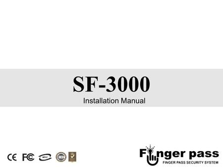 SF-3000 Installation Manual. 2 Back of SF-3000 3 CON400) USB connector - User can use USB memory stick after connect USB connector of key PCB. CON500)