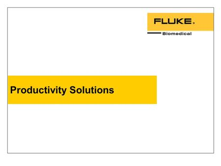 Productivity Solutions. 2 Healthcare challenges today: profitability Maximizing Profitability –Subjective approximations make it difficult to project.