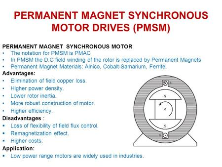 Aspects of permanent magnet machine design ppt video for Loss of motor control