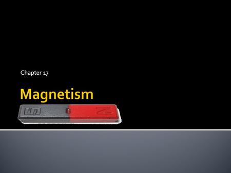 Chapter 17 Magnetism.