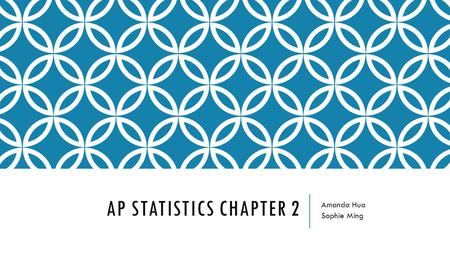 AP STATISTICS CHAPTER 2 Amanda Hua Sophie Ming. UNDERSTANDING AND EXPLORING DATA.