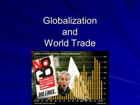 Globalization and World Trade. Globalization a la Facebook.