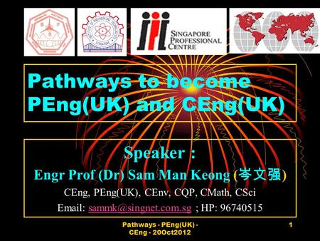 Pathways to become PEng(UK) and CEng(UK)