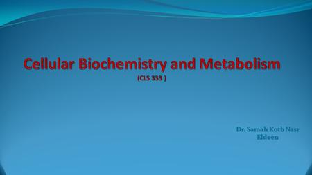 Dr. Samah Kotb Nasr Eldeen. GLYCOGEN CATABOLISM CHAPTER 4.