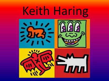 Keith Haring. Who is Keith Haring? Street artist who made work in the 1980s Created artwork with GESTURE FIGURES  com/SDs7cUAyn Ok