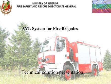 Technical solution presentation AVL System for Fire Brigades.