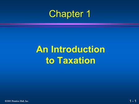 An Introduction to Taxation