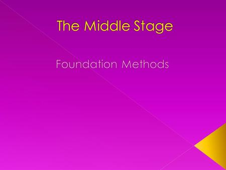  After an initial period of testing, conflict, and adjustment by members, the main focus of the middle stage turns to goal achievement.  During the.
