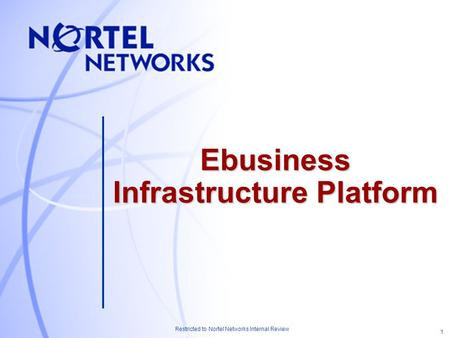 1 Restricted to Nortel Networks Internal Review Ebusiness Infrastructure Platform.