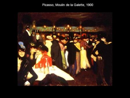 Picasso, Moulin de la Galette, 1900. Picasso, Two Women at a Bar, 1902.