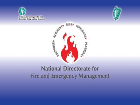 SEMINAR ON BUILDING COMMUNITY PREPAREDNESS AND RESILIENCE THE NATIONAL PERSPECTIVE KILLARNEY - 9 March 2012 Sean Hogan.