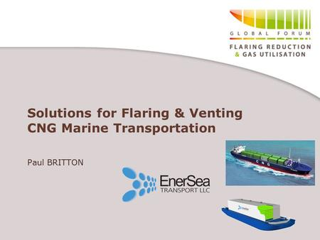 Solutions for Flaring & Venting CNG Marine Transportation