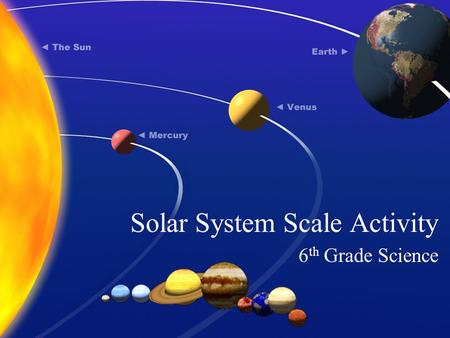 scale model solar system activity - photo #32