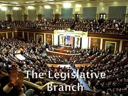I.Congress is the national legislature. It is bicameral and divided into two parts: The House of Representatives and the Senate.