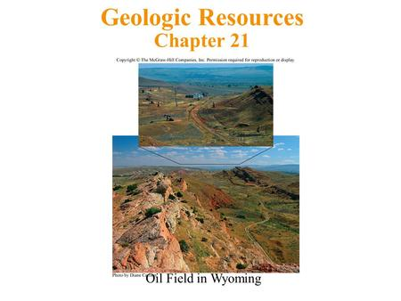 Geologic Resources Chapter 21 Oil Field in Wyoming.