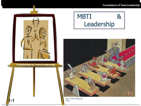 Open FTL Foundations of Team Leadership 11-1 Foundations of Team Leadership MBTI & Leadership New Yorker Magazine 2004.