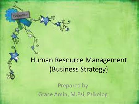 Human Resource Management (Business Strategy)