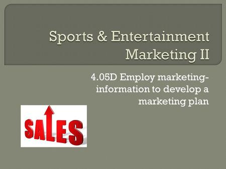 Sports & Entertainment Marketing II