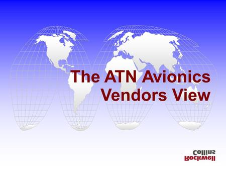 The ATN Avionics Vendors View. ATN2001 Sept 2001; p.2 PETAL-II Avionics.