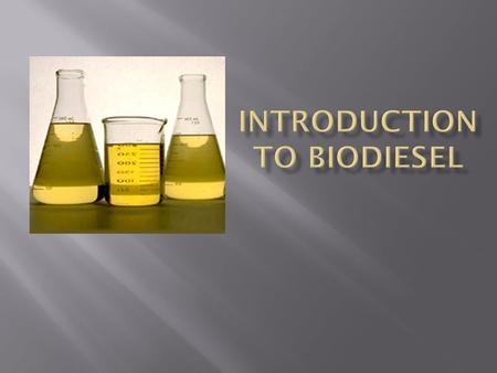 Disclaimer  What is Biodiesel  Why to make Bio-Diesel  How it all works  Making a small amount  Scaling up  Process of making it  Refining and.