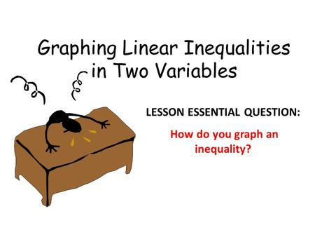 Graphing Linear Inequalities in Two Variables LESSON ESSENTIAL QUESTION: How do you graph an inequality?