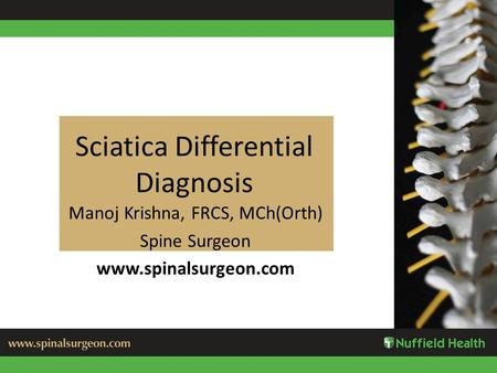 Sciatica Differential Diagnosis