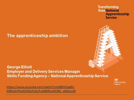 The apprenticeship ambition