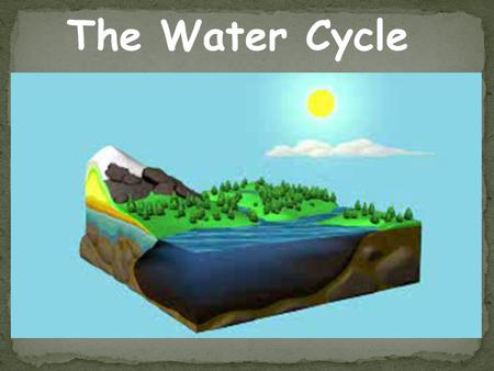 The Water Cycle. Anything written in yellow (SLOW down and pay attention) is useful information. You should write it in your notes IN YOUR OWN WORDS.