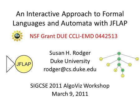 An Interactive Approach to Formal Languages and Automata with JFLAP