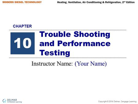 Trouble Shooting and Performance Testing