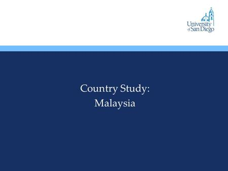 Country Study: Malaysia. Overview In 1948, the British-ruled colonies on Malay Peninsula formed a Federation of Malaya, which became independent in 1952.