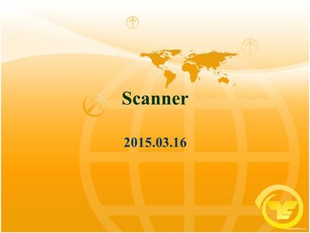 Scanner 2015.03.16. Front End The purpose of the front end is to deal with the input language Perform a membership test: code  source language? Is the.