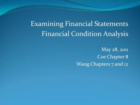 examining financial statements Report on examination of basic financial statements - fiscal year 2017.
