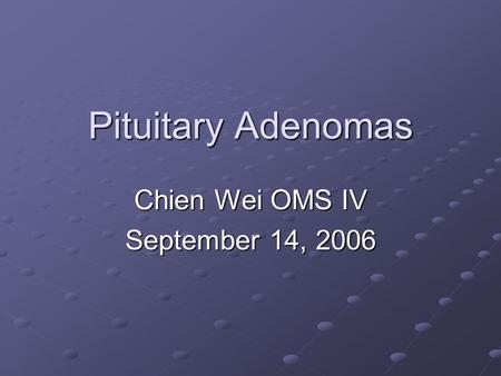 Chien Wei OMS IV September 14, 2006