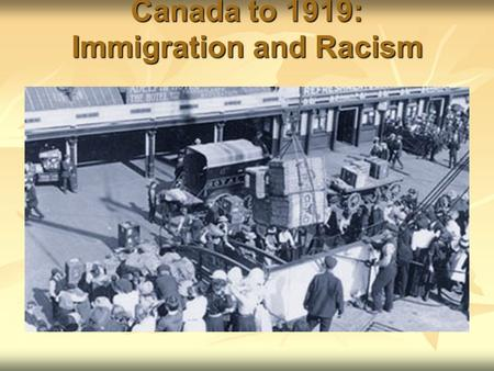 immigration policy in canada 1867 to Shirish chotalia, an edmonton immigration lawyer a century of canadian immigration policy: 1867-1967 1869: canada passes its first immigration act.