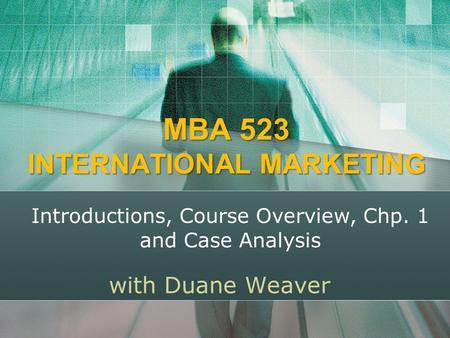 mba marketing coursework