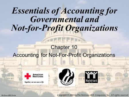 Chapter 10 Accounting for Not-For-Profit Organizations