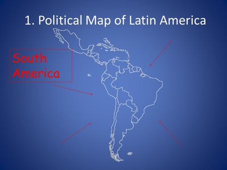 1. Political Map of Latin America South America. 2. Political Map of Latin America Caribbean.