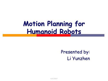 term paper on motion planning in robotics New lower bound techniques for robot motion planning the compass that steered robotics, logic and program semantics: essays dedicated to dexter kozen on the.