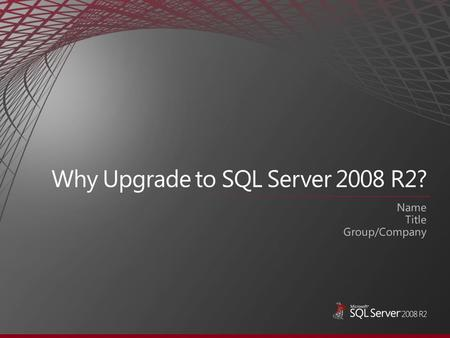 If you have SQL Server 2005, you get all the features below plus the following: If you have SQL Server 2000, you get all the features below plus.