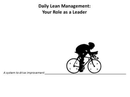 Daily Lean Management: