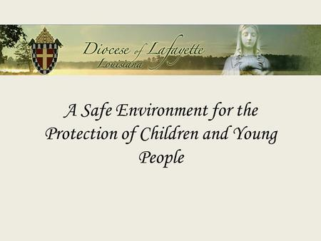 A Safe Environment for the Protection of Children and Young People.