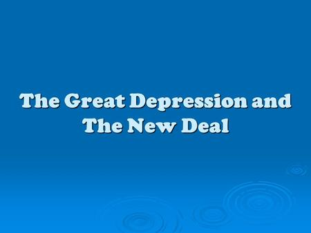 The Great Depression and The New Deal. Boom to Bust The Farmers' Plight  Farms began to fail in the 1920s.  Banks went out of business because the farmers.
