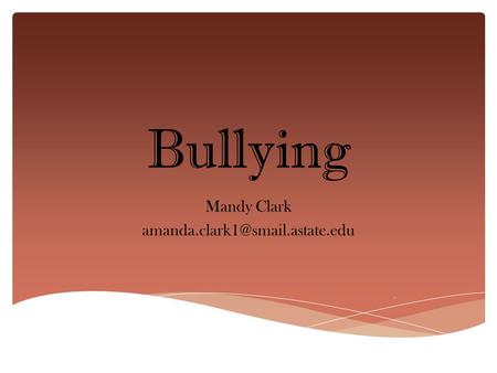 Bullying Mandy Clark